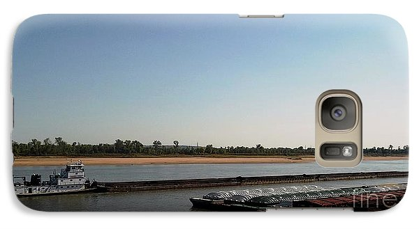Galaxy Case featuring the photograph Mississippi River Barge by Kelly Awad