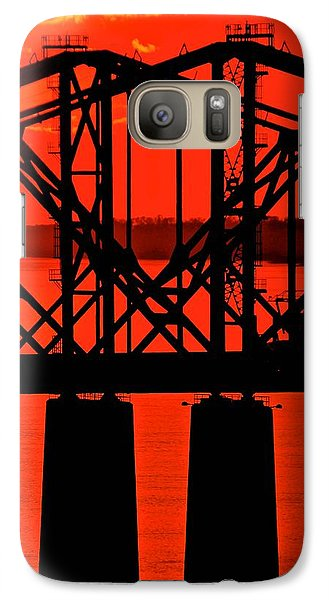 Galaxy Case featuring the photograph Mississippi River Bridge At Natchez by Jim Albritton