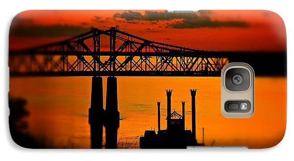 Galaxy Case featuring the photograph Mississippi River Natchez Sunset by Jim Albritton