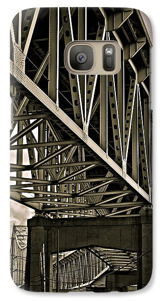 Galaxy Case featuring the photograph Mississippi Truss In New Orleans by Ray Devlin