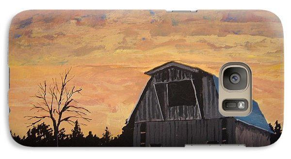 Galaxy Case featuring the painting Missouri Barn by Norm Starks