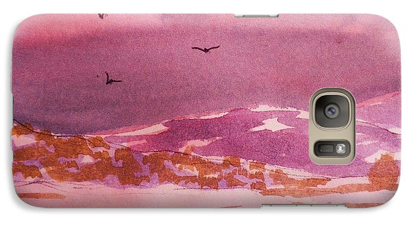Galaxy Case featuring the painting Mist And Snow by Suzanne McKay