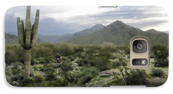 Galaxy Case featuring the photograph Mist On The Mountains by Phyllis Peterson