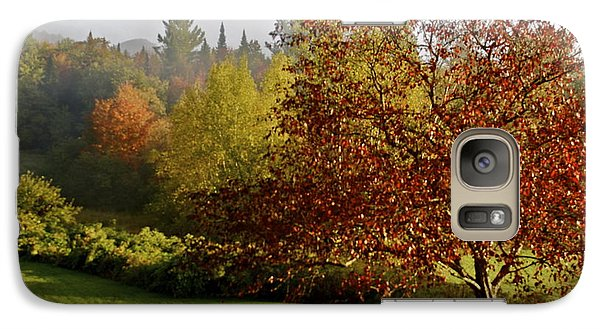 Galaxy Case featuring the photograph Misty Autumn Morning by Alice Mainville