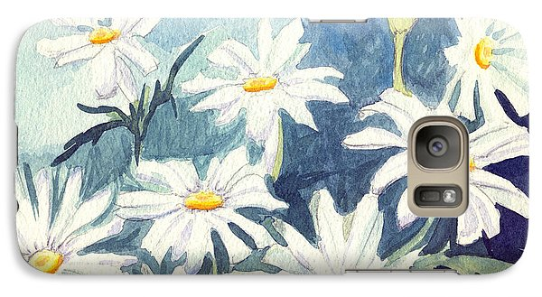 Galaxy Case featuring the painting Misty Daisies by Katherine Miller