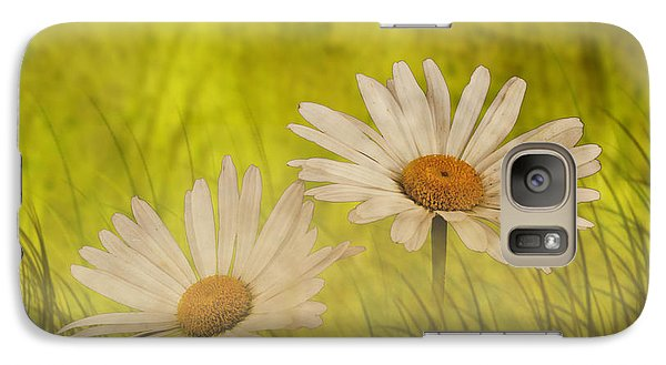 Galaxy Case featuring the photograph Misty Daisies by Shirley Mangini