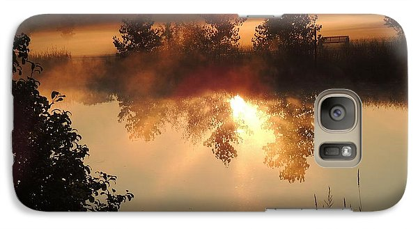 Galaxy Case featuring the photograph Misty Dawn by Teresa Schomig