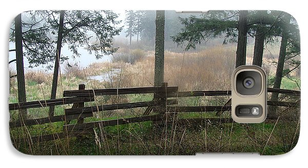 Galaxy Case featuring the photograph Misty Flats by Cheryl Hoyle