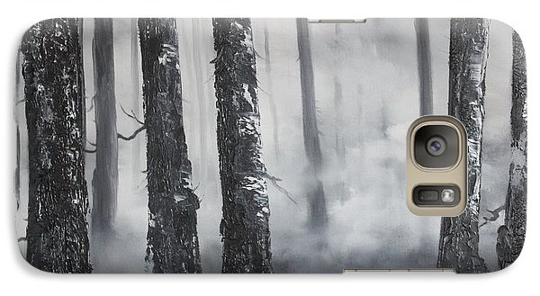 Galaxy Case featuring the painting Misty Forest by Jean Walker