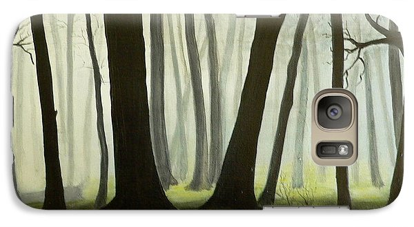 Galaxy Case featuring the painting Misty Forrest by Dan Wagner