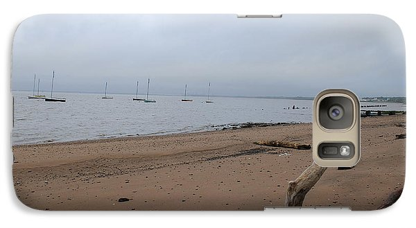 Galaxy Case featuring the photograph Misty Harbor by David Jackson