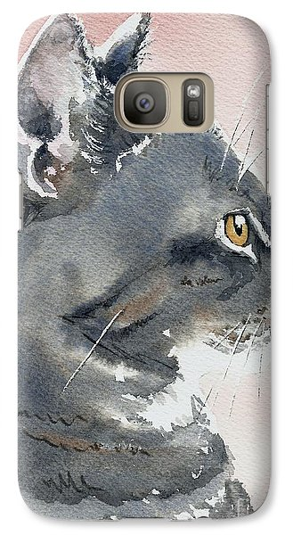 Galaxy Case featuring the painting Misty In Profile by Lynn Babineau