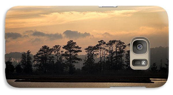 Galaxy Case featuring the photograph Misty Island Of Assawoman Bay by Bill Swartwout