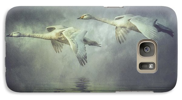 Galaxy Case featuring the photograph Misty Moon Shadows by Brian Tarr