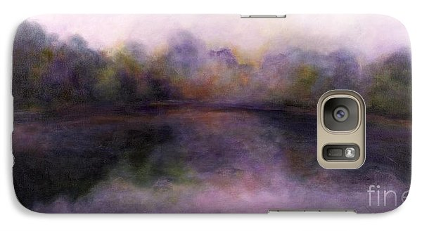 Galaxy Case featuring the painting Misty Morning by Alison Caltrider