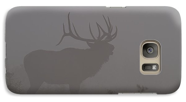 Galaxy Case featuring the photograph Misty Morning Bull Elk by Doug McPherson