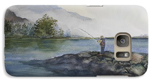 Galaxy Case featuring the painting Misty Morning by Jan Cipolla