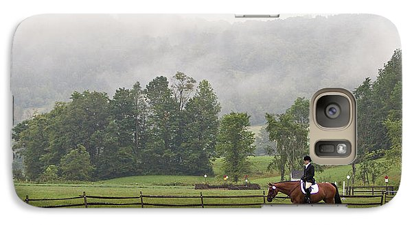 Galaxy Case featuring the photograph Misty Morning Ride by Joan Davis