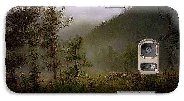 Galaxy Case featuring the photograph Misty Mountain by Ellen Heaverlo