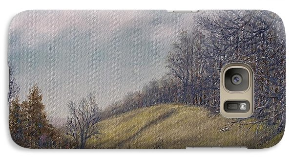Galaxy Case featuring the painting Misty Mountain Valley by Kathleen McDermott