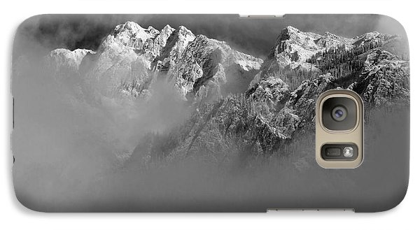 Misty Mountains In Mono Galaxy S7 Case