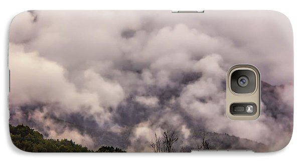 Galaxy Case featuring the photograph Misty Mountains by Wallaroo Images