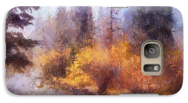 Galaxy Case featuring the painting Misty River Afternoon by Arthaven Studios
