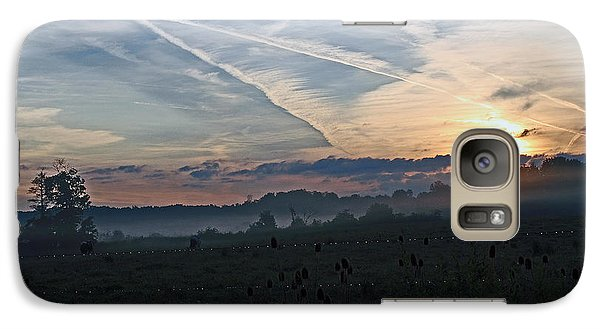 Galaxy Case featuring the photograph Misty Sunrise by Lila Fisher-Wenzel