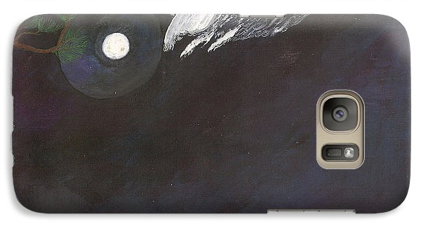 Galaxy Case featuring the painting Misty Twinight by Kim Pate