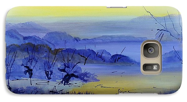 Galaxy Case featuring the painting Misty Valley by Lyn Olsen