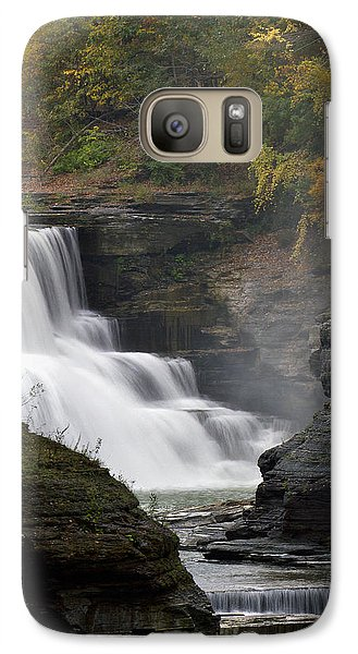 Galaxy Case featuring the photograph Misty Waterfalls by Timothy McIntyre