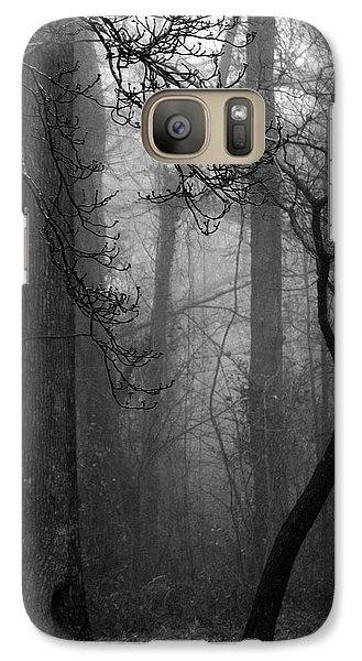 Galaxy Case featuring the photograph Misty Woods by Rebecca Davis