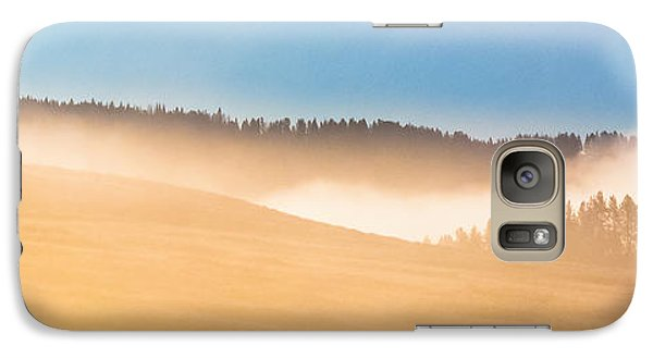 Galaxy Case featuring the photograph Misty Yellowstone   by Lars Lentz