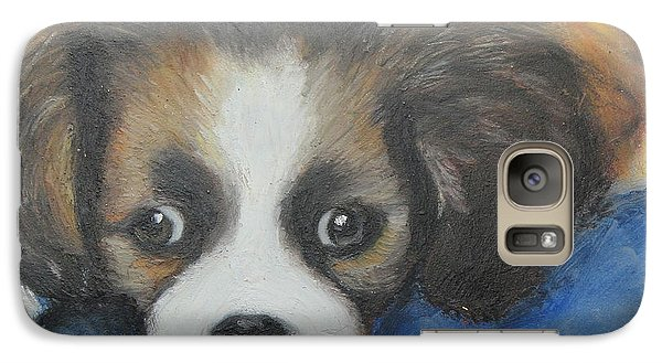 Galaxy Case featuring the painting Mitzy by Jeanne Fischer
