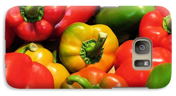 Galaxy Case featuring the photograph Mixed Bell Peppers by Gerry Bates
