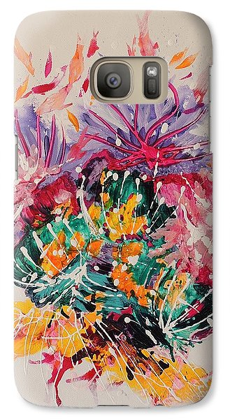 Galaxy Case featuring the painting Mixed Coral by Lyn Olsen