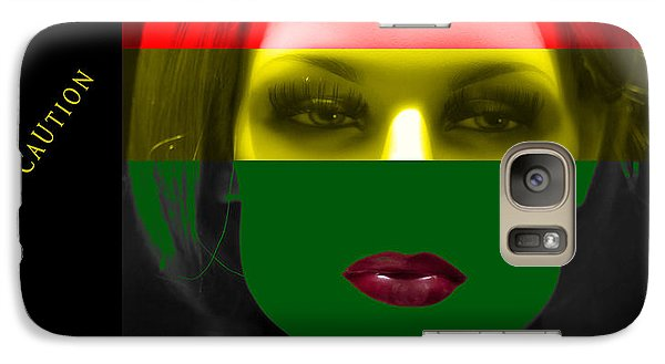 Galaxy Case featuring the photograph Mixed Message by James Bethanis
