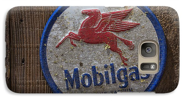 Mobil Gas Sign Galaxy S7 Case