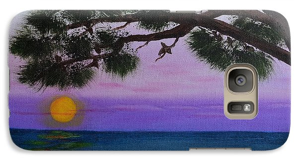 Galaxy Case featuring the painting Mobile Bay Sunset by Melvin Turner