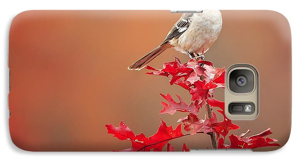Mockingbird Galaxy S7 Case - Mockingbird Autumn Square by Bill Wakeley