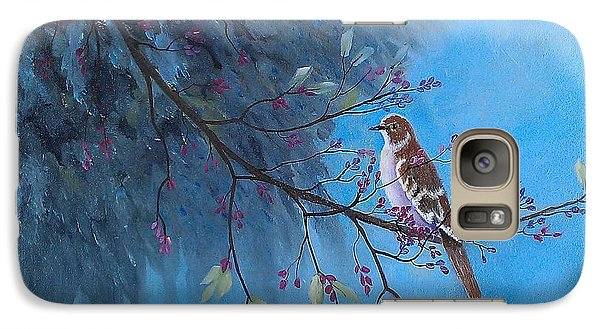 Galaxy Case featuring the painting Mockingbird Happiness by Suzanne Theis