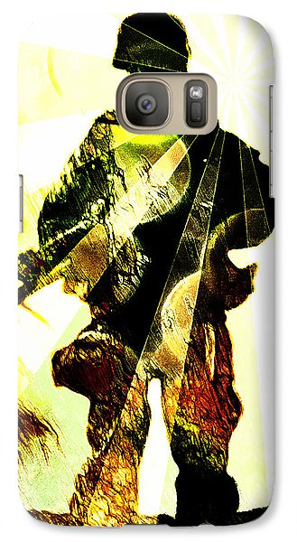Galaxy Case featuring the digital art Modern Soldier by Andrea Barbieri