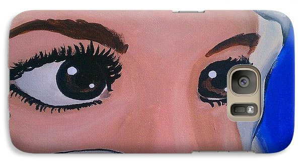 Galaxy Case featuring the painting Modesty by Marisela Mungia