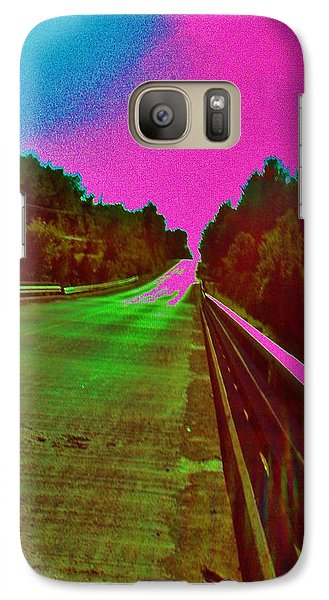 Galaxy Case featuring the photograph Moffit Bridge And Maple Ridge Rd. by Daniel Thompson