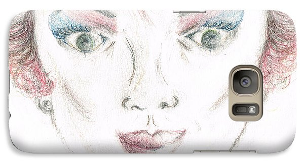 Galaxy Case featuring the drawing Mollys Makeover/ Pink Day by Teresa White