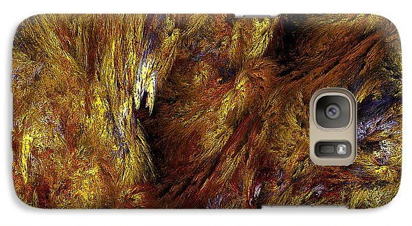 Galaxy Case featuring the digital art Molten Canvas by Anthony Rego