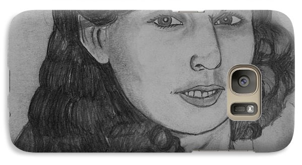 Galaxy Case featuring the drawing Mom 1988 by Justin Moore