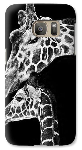 Mom And Baby Giraffe  Galaxy S7 Case by Adam Romanowicz