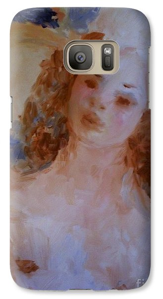 Galaxy Case featuring the painting Mom Near Jupiter by Laurie L