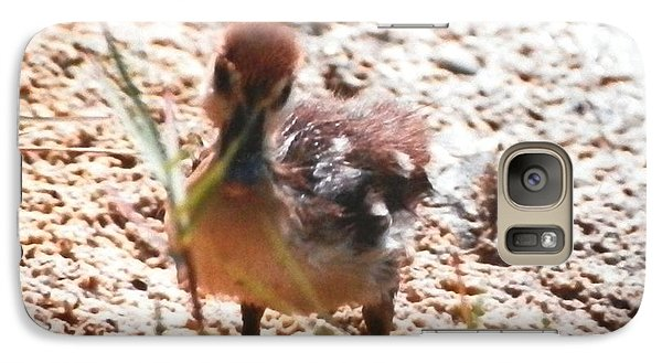 Galaxy Case featuring the photograph Duckling Searching by Belinda Lee